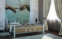 Металлическая кровать Жозефина Вуд 140х190 см. Металл-Дизайн