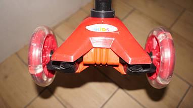 Трехколесный самокат 4Kids Maxi светятся колеса, красный, фото 2