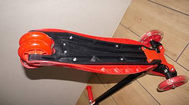 Трехколесный самокат 4Kids Maxi светятся колеса, красный, фото 3