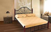Металлическая кровать Анжелика Вуд 140х190 см. Металл-Дизайн