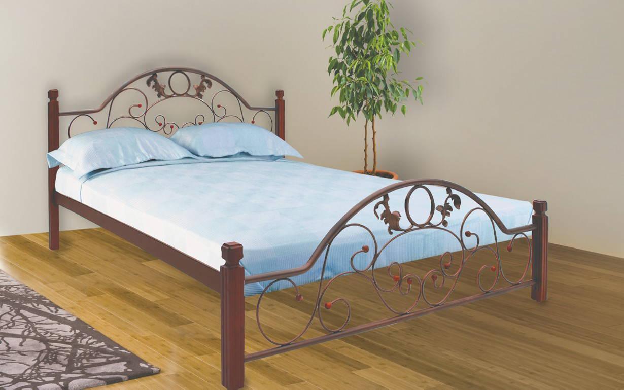Металлическая кровать Франческа Вуд 140х190 см. Металл-Дизайн