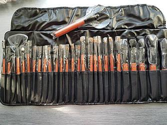 Профессиональные кисти для макияжа 24 штуки в чехле -Tools For Beauty Professional