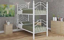Двухъярусная кровать Диана Вуд 80х190 см. Металл-Дизайн