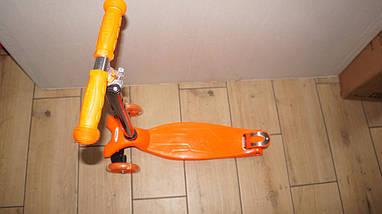 Трехколесный самокат 4Kids Maxi светятся колеса, оранжевый, фото 3