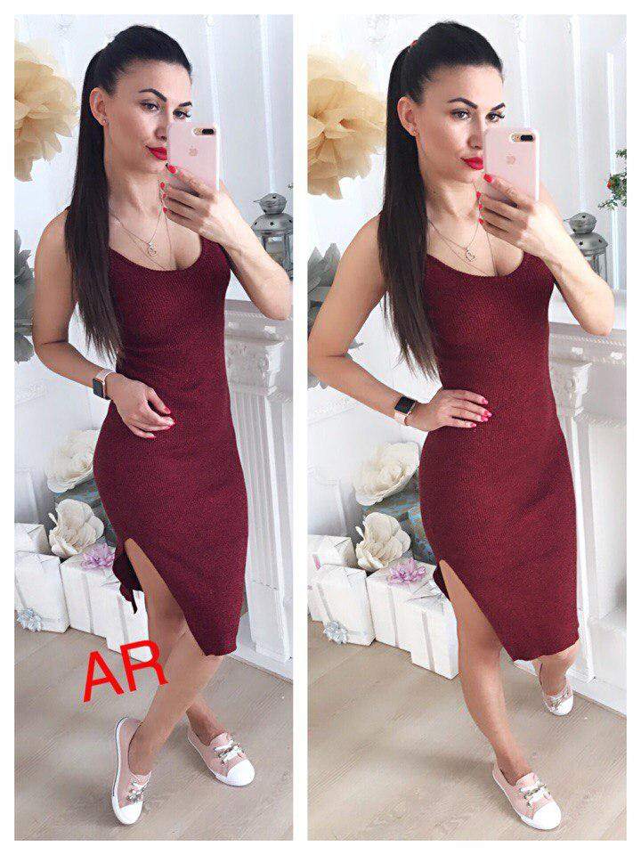 Платье. Фабричный Китай. Люкс качество.Ткать трикотаж резинка Размер 42/46(11305)