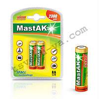 Аккумулятор фирменный повышенной емкости Mastak AA 2300 mAh для шокера, шокеров, электрошокеров, фонарика
