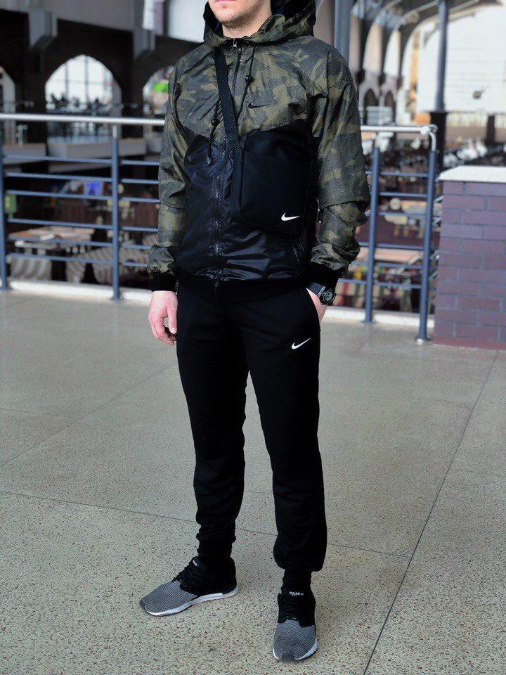 Комплект Nike Windrunner Jacket +штаны, барсетка в подарок камуфляжный топ реплика