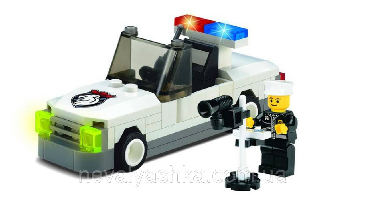 Конструктор Brick Enlighten Police Series Полицейский автомобиль с радаром, 74 дет., 125, 002732