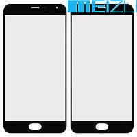 Стекло (для ремонта дисплея) Meizu Pro 5, черное