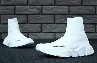 Женские кроссовки Balenciaga Speed Trainer Sock White, фото 3