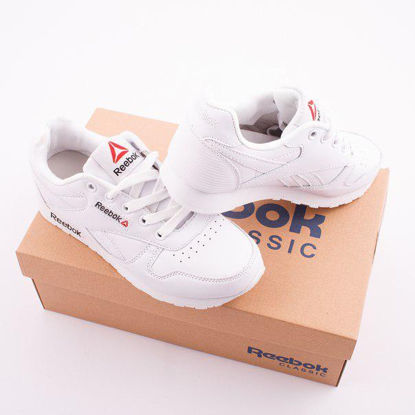 a8c36bd06180 Женские кроссовки Reebok Classic White (Рибок Класик) белые