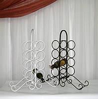Кованая подставка для вина на 8 бутылок, белая  , фото 1