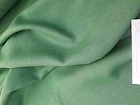 Льняная костюмная ткань, зеленого цвета, фото 1