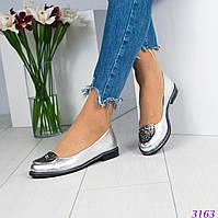 """Шикарные туфли. Декор """"Версаче"""". Цвет - серебристый.Размер 35"""
