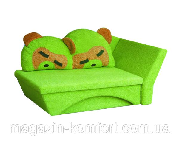 Диван детский раскладной Панда зеленый, фото 1