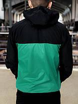 Комплект Nike Windrunner Jacket +штаны, барсетка в подарок бирюзово-черный топ реплика, фото 2