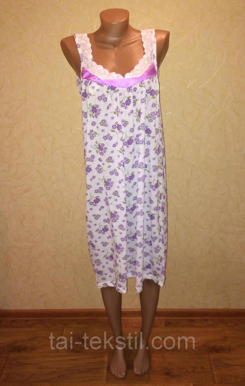 Oncu ночная рубашка тоненький хлопок бретелька в разных цветах Турция (48-52р)