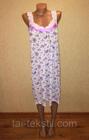 Oncu ночная рубашка тоненький хлопок бретелька в разных цветах Турция (48-52р), фото 2