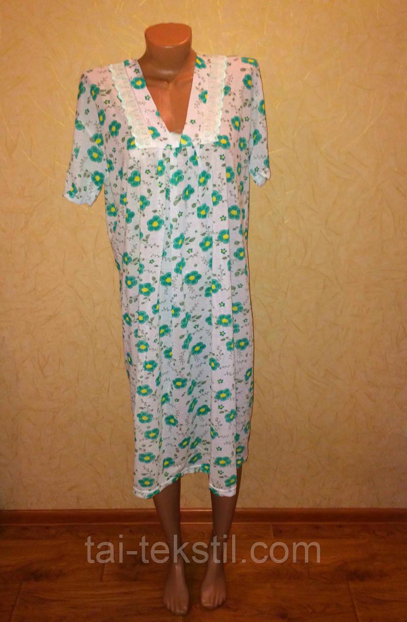 Oncu ночная рубашка с коротким рукавом тоненький хлопок в разных цветах Турция (52-54р)