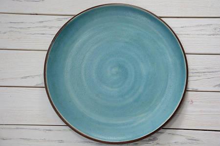 Тарелка без борта - 230  мм,  Блаутуркис *  (Manna Ceramics)