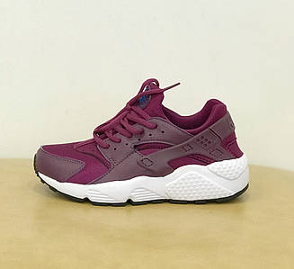 Женские кроссовки Nike Air Huarache Run Sunset Bordo бордовые гуарачи