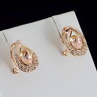 Изысканные серьги с кристаллами Swarovski, покрытые слоями золота 0791