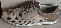 Мужские туфли летние кожа бежевые, летние туфли мужские от производителя модель И82Б, фото 1