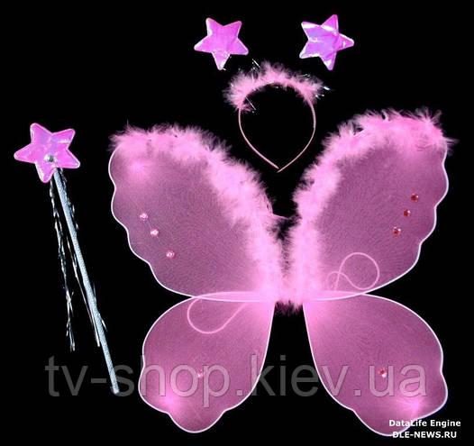 Крылья с пухом,палочка,обруч  Звездочки