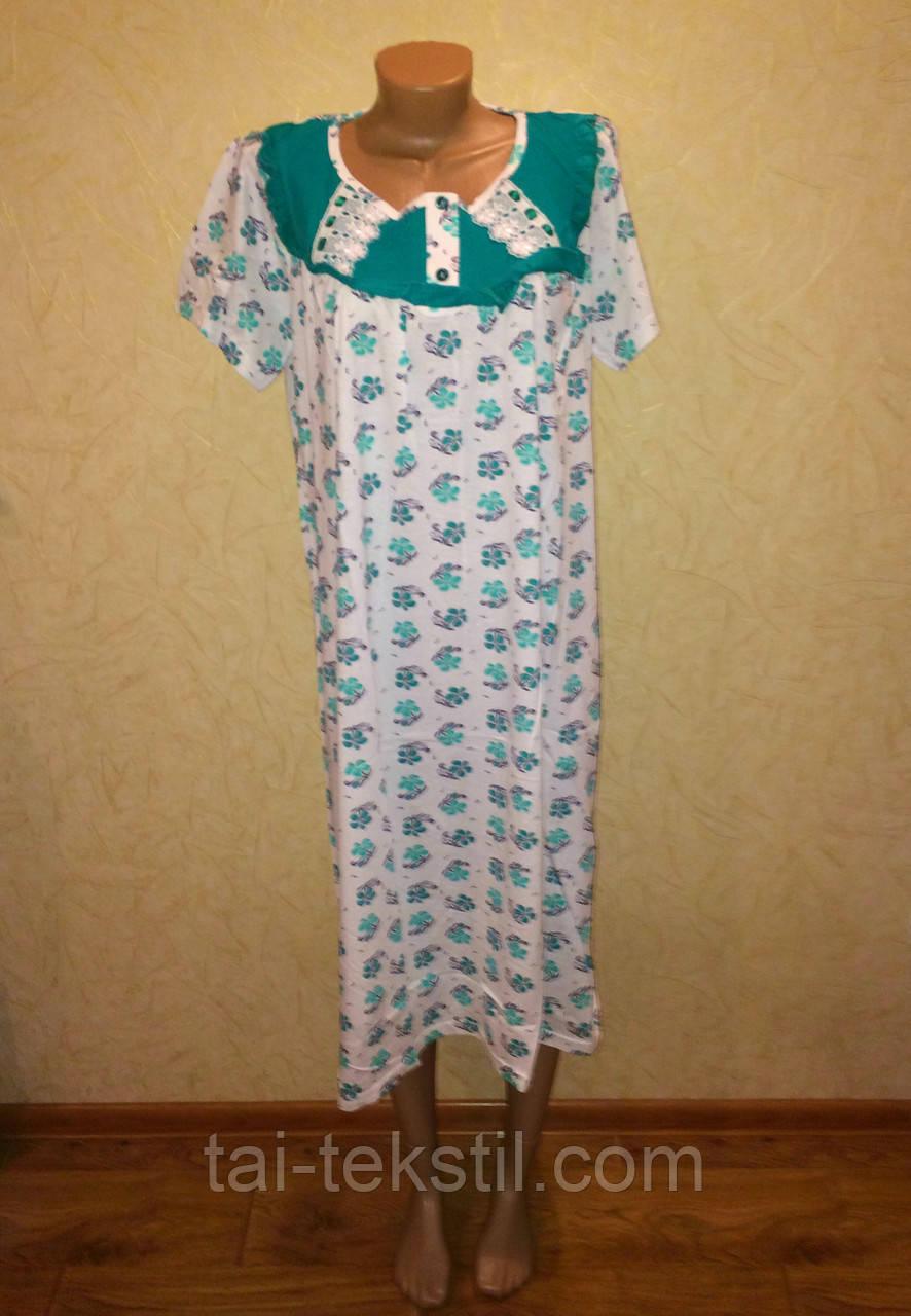 Oncu ночная рубашка больших размеров с кружевом разные цвета Турция (58-60р)