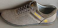 Мужские туфли летние кожа бежевые, летние туфли мужские от производителя модель И705БП, фото 1