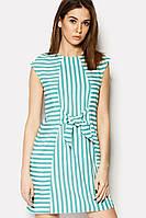 Короткое летнее платье в ментолово-белую полоску (Andel crd)