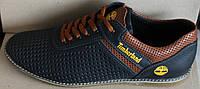 Мужские туфли летние кожа черные, летние туфли мужские от производителя модель И705ЧП, фото 1