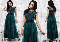 60091049181 Нарядное вечернее платье в пол на выпускной от производителя Украина Россия  недорого р. 42-