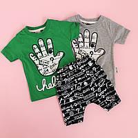 Набор футболка и шорты для мальчика Ладошки размер 9 мес