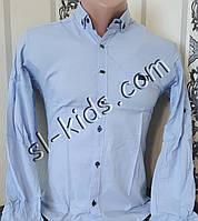 Стильна стрейчева сорочка для хлопчика 11-15 років(роздр) (блакитна) (пр. Туреччина)
