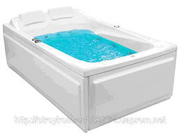 Гидромассажная ванна Partner 185 x 113 с системой гидро-аэромассажа Economy 2 POOLSPA PHP7310SO2C