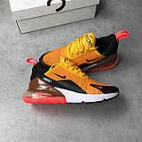Женские кроссовки Nike Air Max 270 (Найк Аир Макс) оранжевые, фото 6