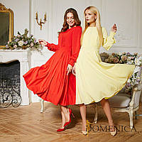 Летнее легкое платье миди с длинным рукавом в расцветках (от 42 до 52 размера) 17094PL, фото 1