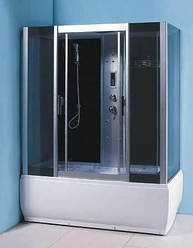 Гидробокс с электроникой 1700*900*2200 мм стекло GREY