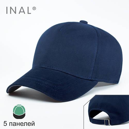 Кепка бейсболка, 5 панелей, Хлопок, Синий, Inal
