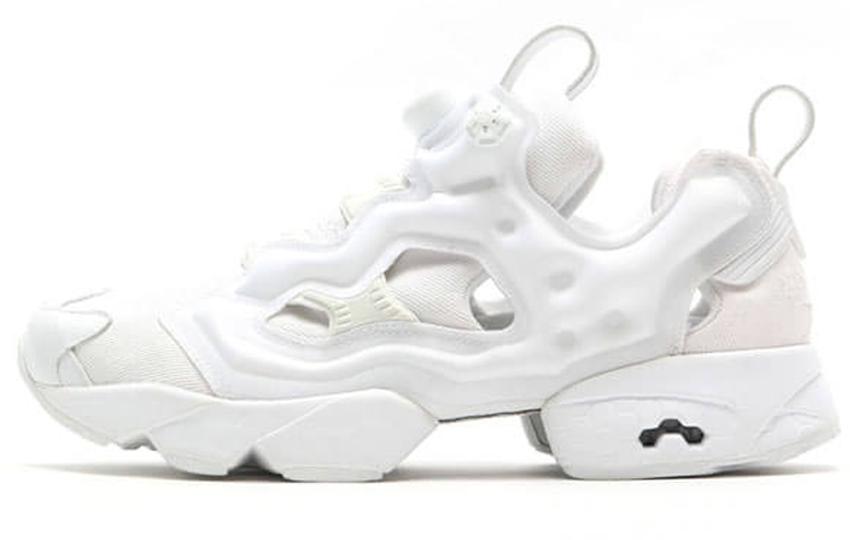 Женские кроссовки Reebok Insta Pump Fury Triple White (Рибок ИнстаПамп) белые