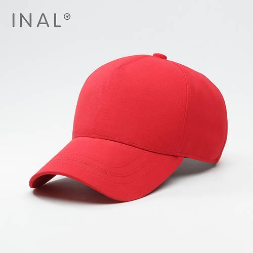 Кепка бейсболка, 5 панелей, L / 57-58 RU, Хлопок, Красный, Inal