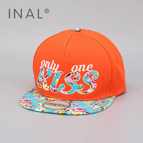 Кепка бейсболка, Kiss, M / 55-56 RU, Хлопок, Оранжевый, Inal