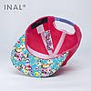 Кепка бейсболка, Pretty One, M / 55-56 RU, Хлопок, Розовый, Inal, фото 3