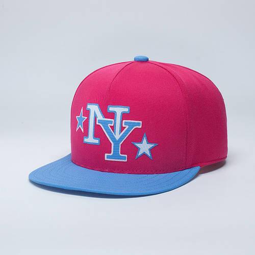 Кепка бейсболка, NY New York, M / 55-56 RU, Хлопок, Розовый, Inal