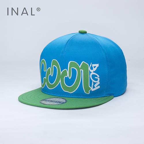 Кепка бейсболка, Cool Boy, M / 55-56 RU, Хлопок, Голубой, Inal