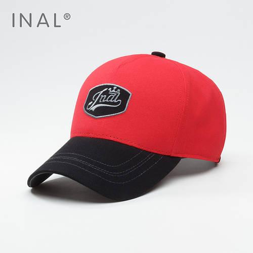 Кепка бейсболка, Retro badge, Хлопок, Красный, Inal