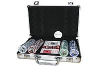 Покер - алюминиевый кейс 30x23x8 - 200 (11.5г) фишек для профессионалов