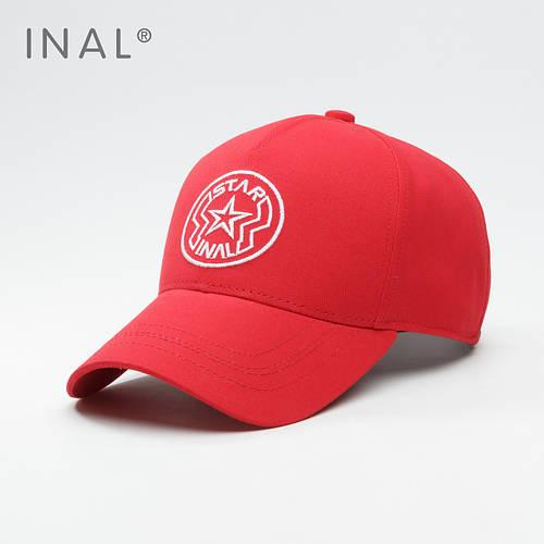 Кепка бейсболка, Star, L / 57-58 RU, Хлопок, Красный, Inal