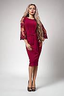 Платье мод №704-4, размеры 46,48,50,52 малиновое